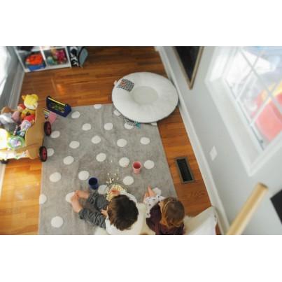 Dywan dziecięcy w kropeczki 120x160 - Szary - Topos Gris Lorena Canals do pokoju dzieci