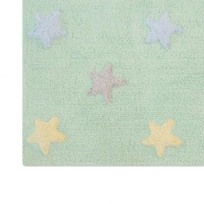 Dywan dziecięcy gwiazdki 120x160 - Miętowy - Tricolor Star Lorena Canals do pokoju dzieci