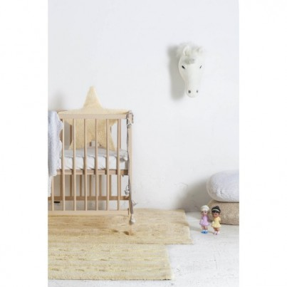 Pastelowy Dywan dziecięcy 80x120 - Waniliowy - Trenzas Small Lorena Canals dla dziewczynki