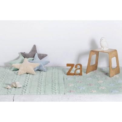 Pastelowy Dywan dziecięcy 120x160 - Miętowy - Trenzas Lorena Canals dla chłopca
