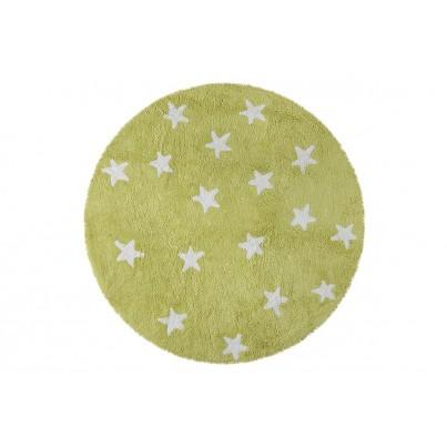 Dywan dziecięcy okrągły gwiazdki 140 - Zielony - Cielo Lorena Canals do pokoju dzieci