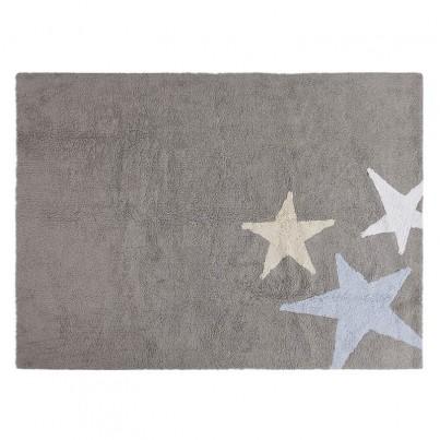 Pastelowy Dywan dziecięcy 120x160 - Szary - Tres Estrellas Azul Lorena Canals dla chłopca