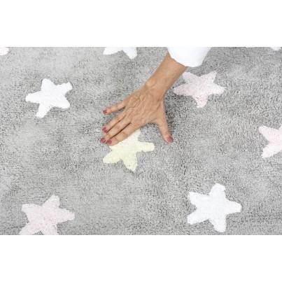 Dywan dziecięcy gwiazdki 120x160 - Szary - Tricolor Star Gris Lorena Canals do pokoju dzieci
