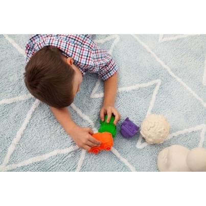 Pastelowy Dywan dziecięcy 120x160 - Błękitny - Hippy Lorena Canals dla chłopca