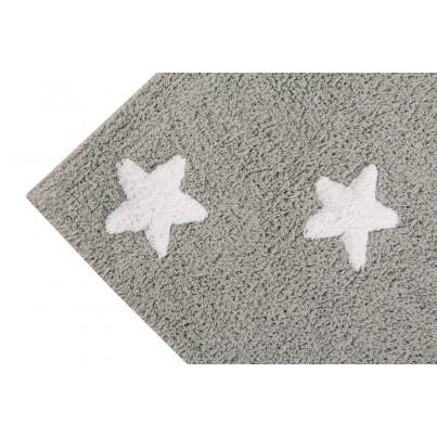 Dywan dziecięcy 120x160 cm gwiazdki - Szary - Stars White Lorena Canals do pokoju chłopięcego