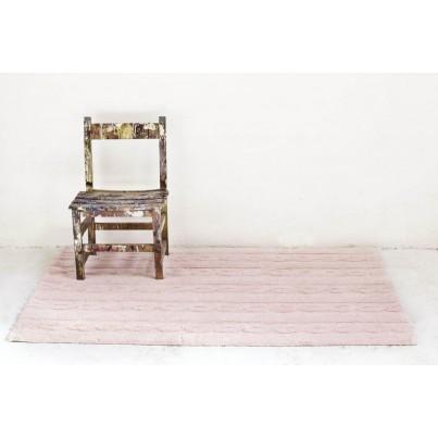 Pastelowy Dywan dziecięcy 80x120 - Różowy - Trenzas Lorena Canals dla dziewczynki