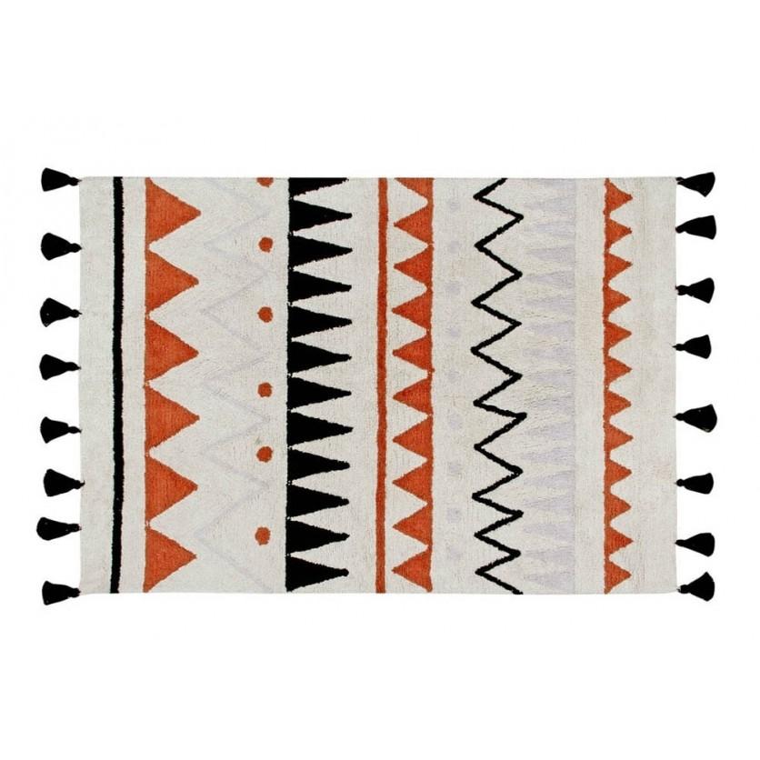 Dywan dziecięcy 120x160 cm - Kolorowy - Azteca Natural Terracota Lorena Canals do pokoju dziecka