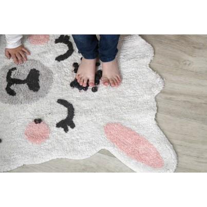 Pastelowy Dywan dziecięcy lama 82x120 - Beżowy - Smile Like a Llama, Mr Wonderful Lorena Canals dla dziewczynki