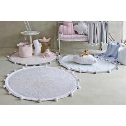 Pastelowy Dywan dziecięcy okrągły 120 - Szary - Bubbly Lorena Canals dla chłopca