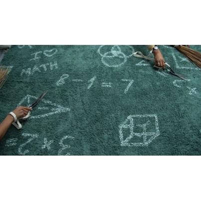 Dywan dziecięcy szkoła 140x200 - Zielony - I love math Lorena Canals do pokoju dzieci