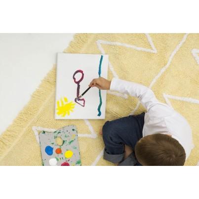 Dywan dziecięcy 120x160 - Żółty - Hippy Yellow Lorena Canals do pokoju dzieci