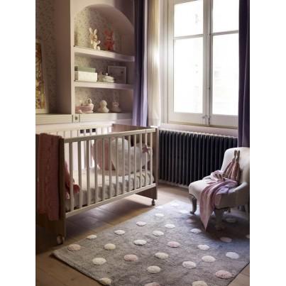 Pastelowy Dywan dziecięcy w kropeczki 120x160 - Szary - Topos Tricolor Lorena Canals dla chłopca