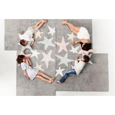 Dywan dziecięcy 120x160 - Szary - Tres Estrellas Pink Lorena Canals do pokoju dzieci