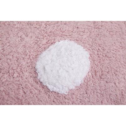 Pastelowy Dywan dziecięcy w kropeczki 120x160 - Różowy - Topos Lorena Canals dla dziewczynki
