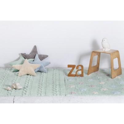 Pastelowy Dywan dziecięcy 80x120 - Błękitny - Trenzas Lorena Canals dla chłopca