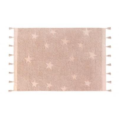 Dywan dziecięcy 120x175 cm gwiazdki - Różowy - Hippy Stars Vintage Nude Lorena Canals do pokoju dziewczynki