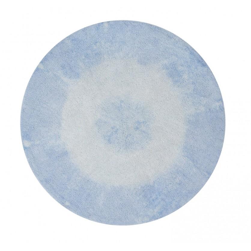 Pastelowy Dywan dziecięcy okrągły 150 - Błękitny - Tie-Dye Lorena Canals dla chłopca