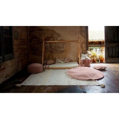 Pastelowy Dywan dziecięcy/Pufa 120 - Różowy- Lou Vintage Lorena Canals dla dziewczynki