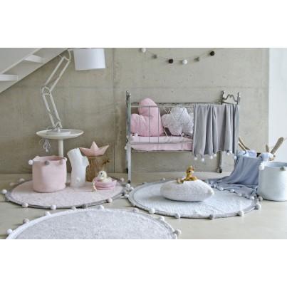Pastelowy Dywan dziecięcy okrągły 120 - Różowy - Bubbly Lorena Canals dla dziewczynki