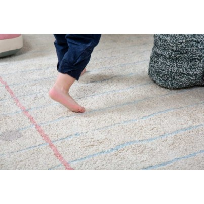 Dywan dziecięcy zeszyt 120x160 - Beżowy - Notebook Lorena Canals do pokoju dzieci