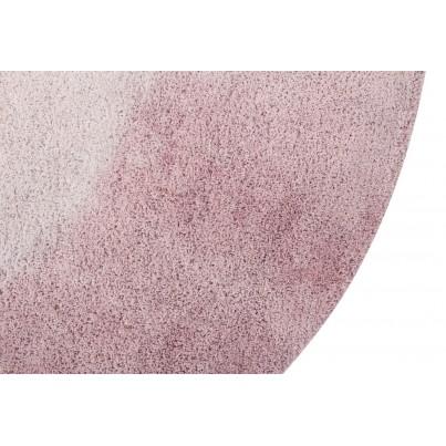 Pastelowy Dywan dziecięcy okrągły 150 - Różowy - Tie-Dye Vintage Lorena Canals dla dziewczynki