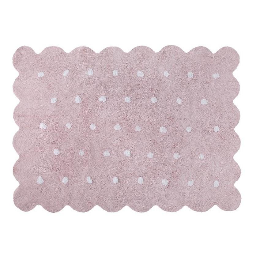 Pastelowy Dywan dziecięcy 120x160 - Różowy - Galleta Rosa Lorena Canals dla dziewczynki