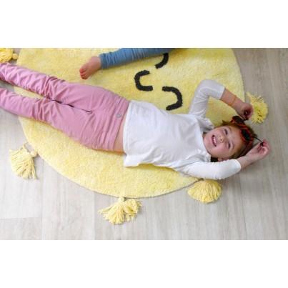 Pastelowy Dywan dziecięcy okrągły słoneczko 100 - Żółty - You're My Sunshine, Mr Wonderful Lorena Canals dla dziewczynki