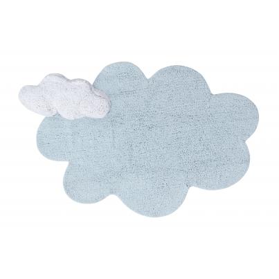 Pastelowy Dywan dziecięcy chmurka 110x170 - Błękitny - Puffy Dream Lorena Canals dla chłopca
