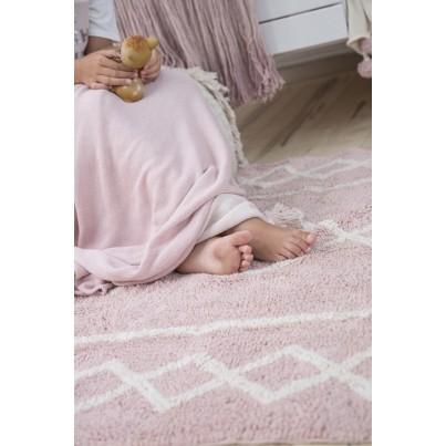 Pastelowy Dywan dziecięcy 120x160 - Różowy - Oasis Vintage Lorena Canals dla dziewczynki
