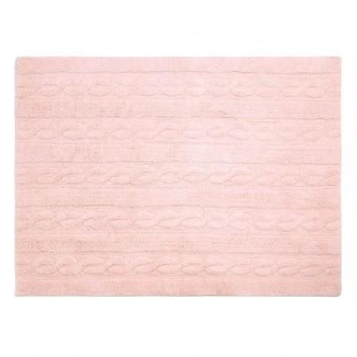 Pastelowy Dywan dziecięcy 120x160 - Różowy - Trenzas Lorena Canals dla dziewczynki