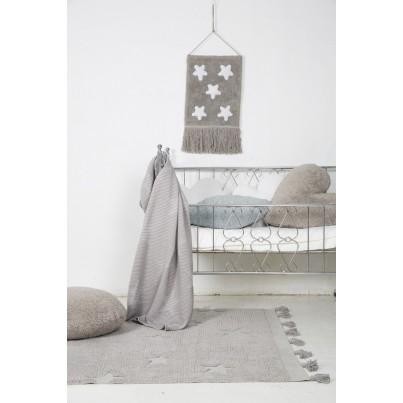 Dywan dziecięcy 120x175 cm gwiazdki - Szary - Hippy Stars Grey Lorena Canals do pokoju dziecka