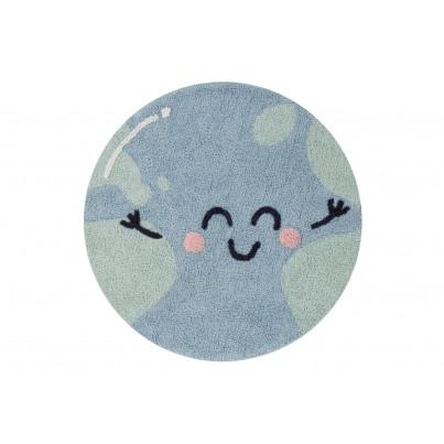 Pastelowy Dywan dziecięcy okrągły 100 - Niebieski - Big Big World Mr Wonderful Lorena Canals dla chłopca