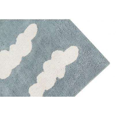 Pastelowy Dywan dziecięcy w chmurki 120x160 - Niebieski - Clouds Vintage Azul Lorena Canals dla chłopca