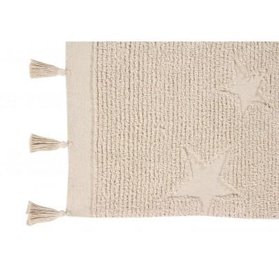 Dywan dziecięcy 120x175 cm gwiazdki - Beżowy - Hippy Stars Natural Lorena Canals do pokoju dziewczynki