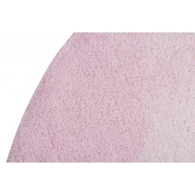 Pastelowy Dywan dziecięcy okrągły 150 - Różowy - Tie-Dye Lorena Canals dla dziewczynki