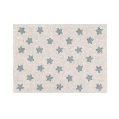 Dywan dziecięcy 120x160 cm gwiazdki - Beżowy - Stars Natural Vintage Blue Lorena Canals do pokoju chłopięcego