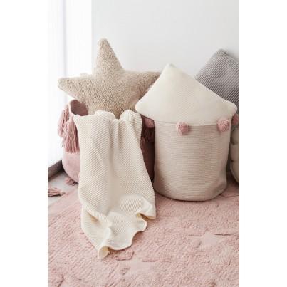 Ozdobna Poduszka dziecięca - Hippy Stars Natural Lorena Canals do pokoju dziecka