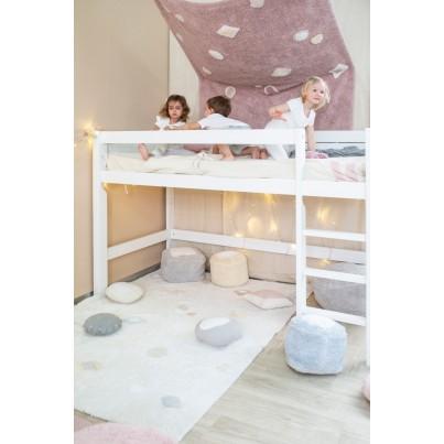 Ozdobna Poduszka dziecięca - Bonbon Grey White Lorena Canals do pokoju dziecka
