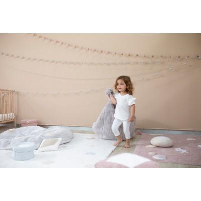 Ozdobna Poduszka dziecięca - Bonbon Vanilla - White Lorena Canals do pokoju dziecka