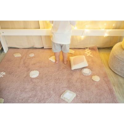 Ozdobna Poduszka dziecięca cukierek - Candy Vanilla Pink Pearl Lorena Canals do pokoju dziecka