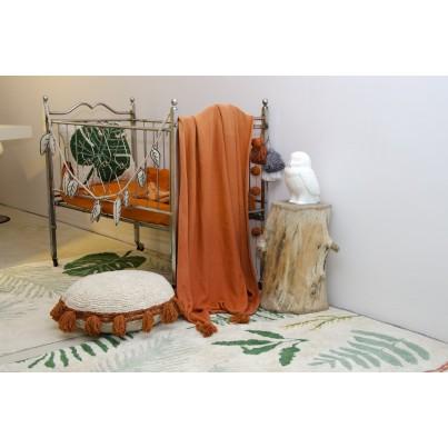 Ozdobna Poduszka dziecięca z frędzlami - Circle Terracota Lorena Canals do pokoju dziecka