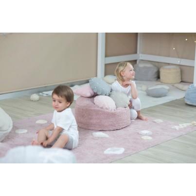 Ozdobna Poduszka dziecięca herbatnik - Round Biscuit Grey Lorena Canals do pokoju dziecka