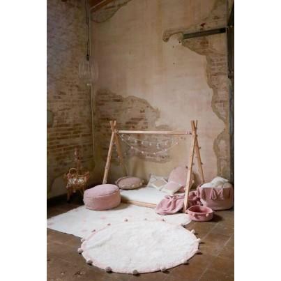Ozdobna Poduszka dziecięca z pomponami - Bubbly Vintage Nude Lorena Canals do pokoju dziecka