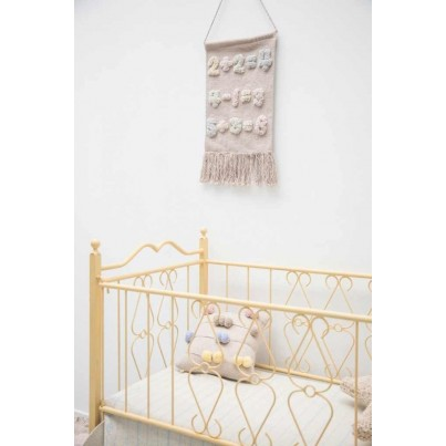 Ozdobna Poduszka dziecięca z pomponami - Caunting Frame Lorena Canals do pokoju dziecka