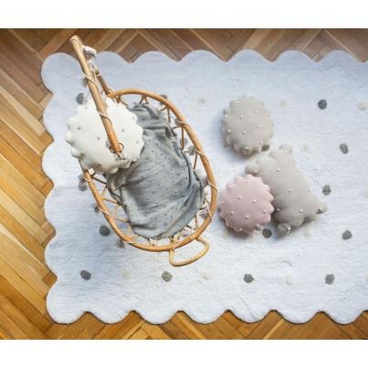 Ozdobna Poduszka dziecięca herbatnik - Biscuit Dune White Lorena Canals do pokoju dziecka