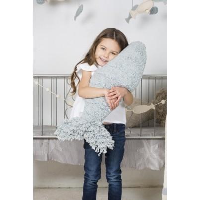 Ozdobna Poduszka dziecięca rybka - Baby Fish Aqua Blue Lorena Canals do pokoju dziecka
