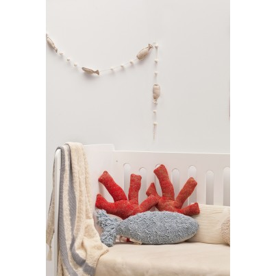 Ozdobna Poduszka dziecięca koralowiec - Coral Lorena Canals do pokoju dziecka