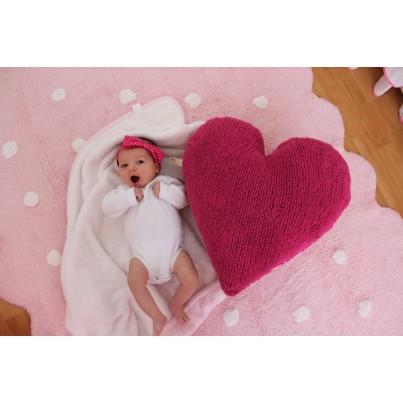 Ozdobna Poduszka dziecięca serce - Corazón Fucsia Lorena Canals do pokoju dziecka