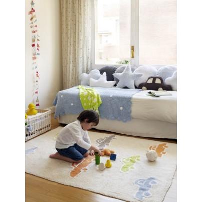 Ozdobna Poduszka dziecięca - Topo Azul Lorena Canals do pokoju dziecka