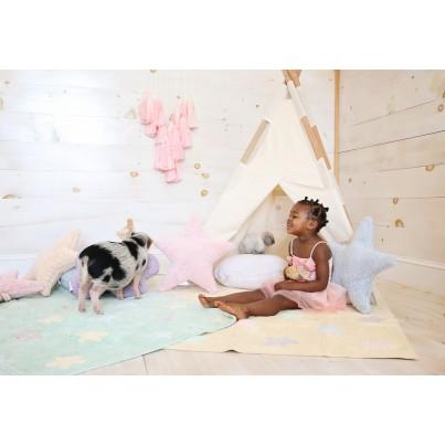 Ozdobna Poduszka dziecięca - Topo Blanco Lorena Canals do pokoju dziecka
